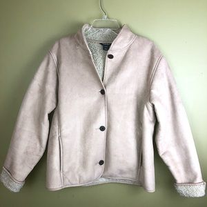 Woolrich coat microfiber with Sherpa lining